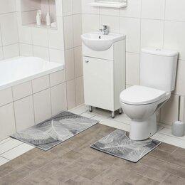 Дизайн, изготовление и реставрация товаров - Коврик для ванной  двойной Перышки 800*500 500*400 велюр 5411410, 0