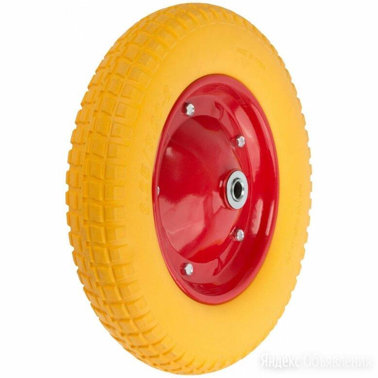 Запасное полиуретановое колесо для тачки 77556 FIT 77586 по цене 2123₽ - Аксессуары и комплектующие, фото 0