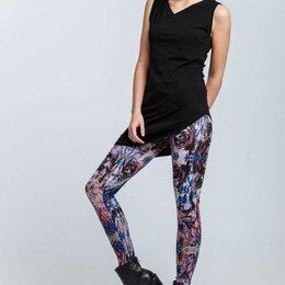 Брюки - Модные женские легинсы с принтом, 0
