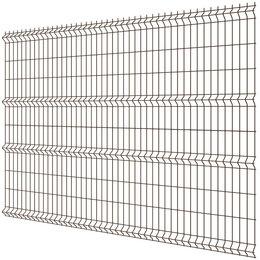 Заборы, ворота и элементы - Панель MEDIUM 2,03х2,50м RAL8017 Шоколад сварная 3Д сетка гиттер, 0