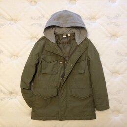 Куртки и пуховики - 137-140 рост Gap зелёная непромокаемая куртка для мальчика, 0