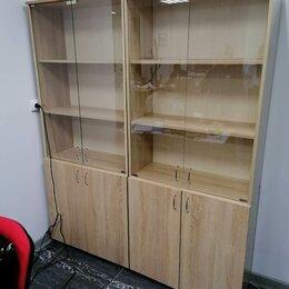 Шкафы для документов - Шкаф офисный книжный со стеклом, стеклянные дверки, 0