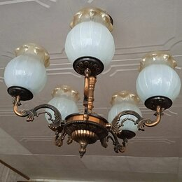 Настенно-потолочные светильники - Люстра потолочная и бра, 0