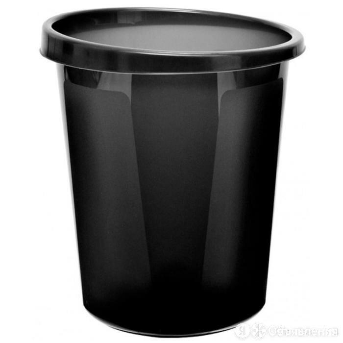 Корзина для бумаг 9 литров, цельная, чёрная по цене 416₽ - Корзины, коробки и контейнеры, фото 0
