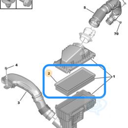 Отопление и кондиционирование  - Фильтр воздушный Citroen C5, Peugeot 407 2.0/2.2 D, 0