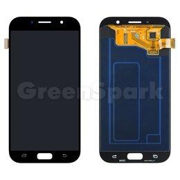 Дисплеи и тачскрины - Дисплей для Samsung A720F Galaxy A7 (2017) + тачскрин (черный) 100%, 0