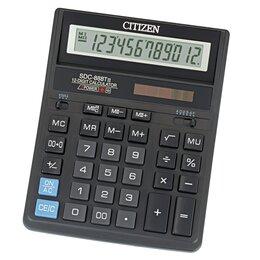 Калькуляторы - CITIZEN Калькулятор CITIZEN SDC 888TII 12-разр., 0