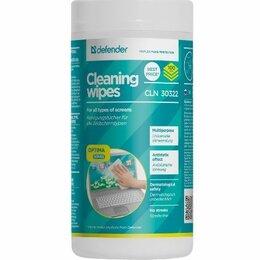 Чистящие принадлежности - Салфетки Defender 30322  влажные чистящие в тубе 100шт., 0