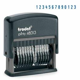 Мебель для учреждений - Нумератор 13-разрядный, оттиск 42х3,8 мм, синий, TRODAT 48313, корпус черный, 53, 0