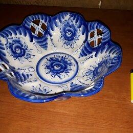 Декоративная посуда - Гжель, Тарелка, СССР, Клеймо 4, 0