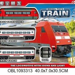 Модели - Игрушка железная дорога, на батарейках Пассажирский поезд, световые и звуковые э, 0
