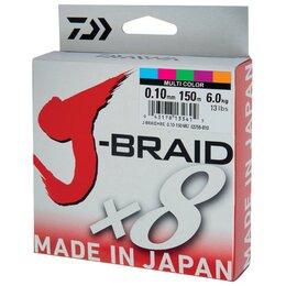 Леска и шнуры - Леска плетеная Daiwa J-Braid X8 150м 0,10мм мульти, 0