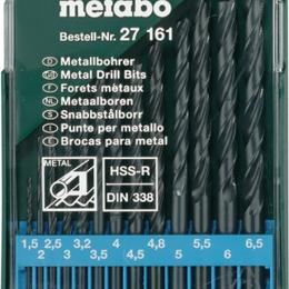 Для дрелей, шуруповертов и гайковертов - Набор сверл для металла HSS-R 13 шт 1,5-6,5 мм Metabo 627161000, 0