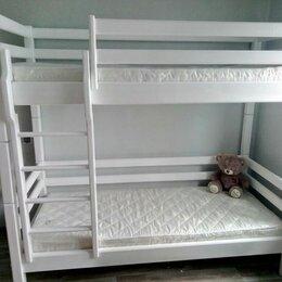 Кроватки - Детская кроватка двухярусная , 0