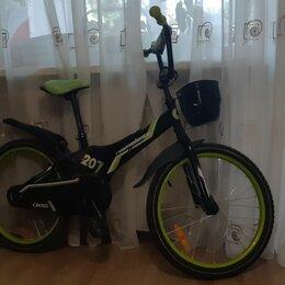"""Велосипеды - Велосипед 20"""" nameless cross, черный/зеленый, 0"""