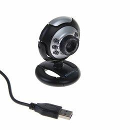 Веб-камеры - Веб-камера Defender C-110, 0.3 Мп, 640x480, микрофон, подсветка, черно-серебр..., 0
