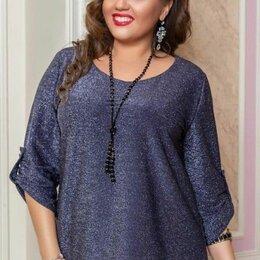 Блузки и кофточки - Блузка с люрексом большого размера р-ры 52-64, 0