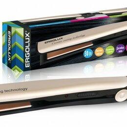 Щипцы, плойки и выпрямители - Выпрямитель для волос ERGOLUX ELX-HS01-C64 черный/золото, 30W 220V, 0