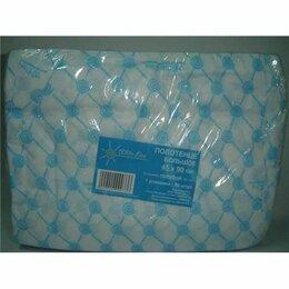 Полотенца - Полотенце большое «White Line» 45*90 пачка голубой спанлейс (50 шт), 0