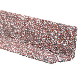 Отделочный профиль, уголки - Уголок внутренний металлический HAUBERK Мраморный 50*50*1250мм, 0