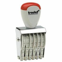 Брошюровщики - Нумератор ручной ленточный, 6 разрядов, оттиск 27х4 мм, TRODAT 1556, 54886, 0