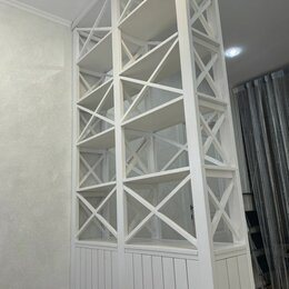 Стеллажи и этажерки - Стеллаж  перегородка в скандинавском стиле для зонирования пространства, 0