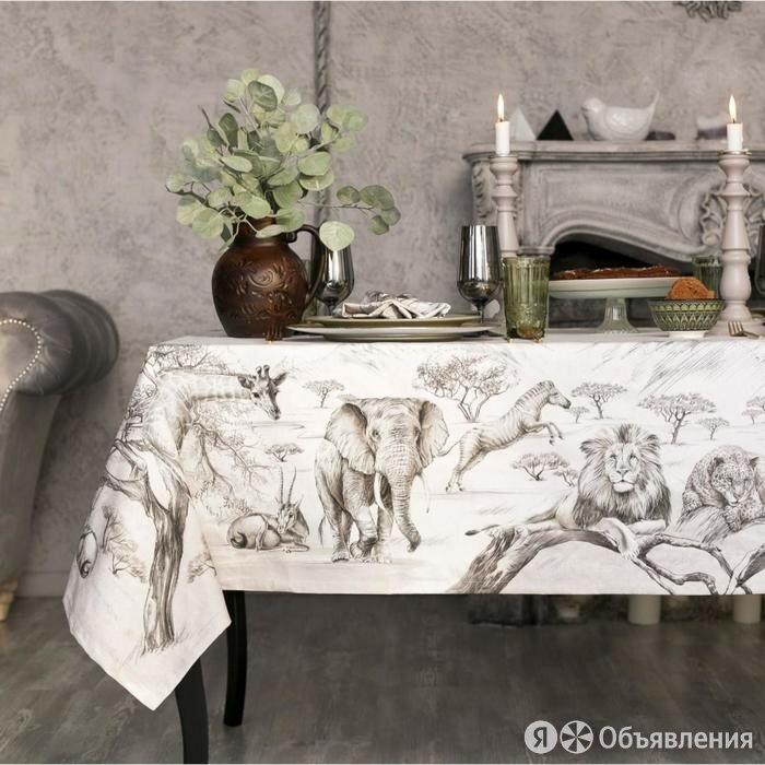 Набор столовый Этель «Сафари», скатерть 220х150 см, салф. 40х40 см-12шт, 100% хл по цене 3700₽ - Скатерти и салфетки, фото 0
