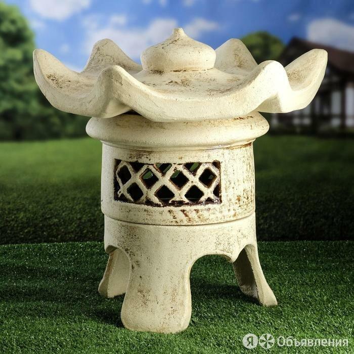 Керамика ручной работы Садовый светильник ''Патай'', шамот, 44 см, без элемен... по цене 5891₽ - Интерьерная подсветка, фото 0