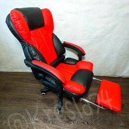Компьютерные кресла - Компьютерное кресло с массажем из экокожи. Новое, 0