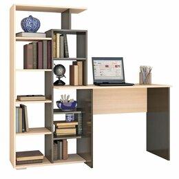 Компьютерные и письменные столы - Стол компьютерный квартет-4 венге / дуб молочный текс, 0