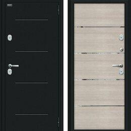 Входные двери - Входная дверь Thermo Лайн Букле черное Cappuccino Veralinga, 0