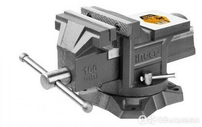 """Тиски слесарные с наковальней (4"""", 6.7кг, сила сжатия: 1300кгс) INGCO HBV084 по цене 4198₽ - Тиски, фото 0"""