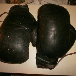 Боксерские перчатки - Боксёрские перчатки советского времени.Кожа!, 0
