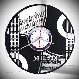 Часы настенные - Часы из пластинки Душа гитары, 0