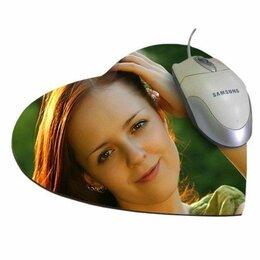 Коврики для мыши - Коврик для компьютерной мыши в виде сердца, 0