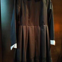Комплекты и форма - Школьное платье с воротником, 0