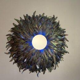 Зеркала - Зеркало в перьях . Декор на стену , 0