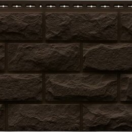 Фасадные панели - Фасадная панель Grand Line Колотый камень Стандарт Коричневый, 0