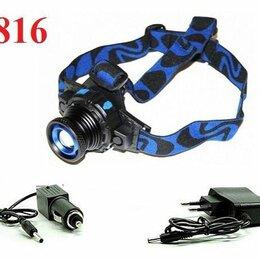 Фонари - Налобный фонарь 6816 встроенный аккумулятор, 0