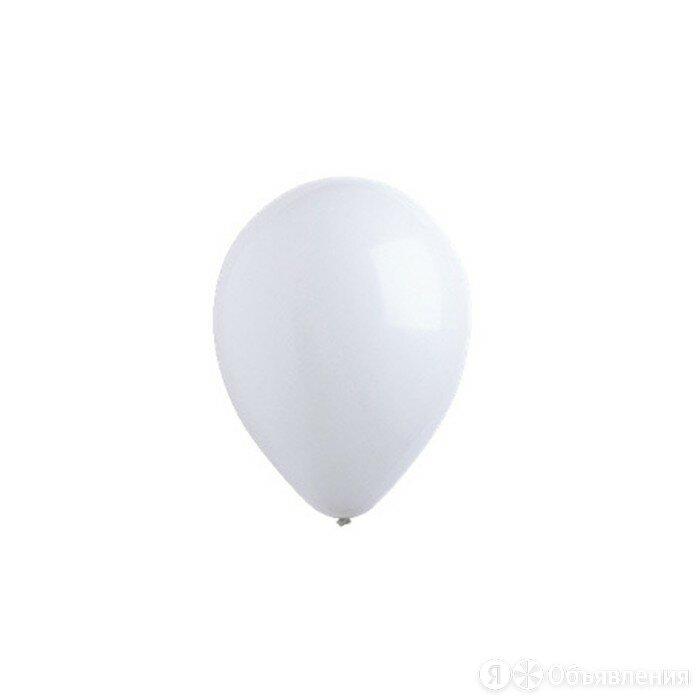 Шар латексный 12', стандарт, набор 50 шт., цвет белый по цене 481₽ - Новогодний декор и аксессуары, фото 0