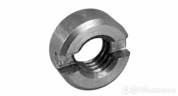 Гайка круглая шлицевая DIN 546 оцинкованная М5 по цене 33₽ - Шайбы и гайки, фото 0