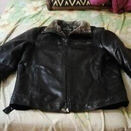 Куртки - Продаётся мужская кожанная куртка , 0