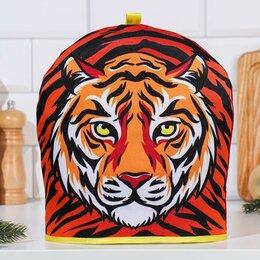 """Крышки и колпаки - Грелка """"Серьёзный тигр"""", 29х28 см, 0"""