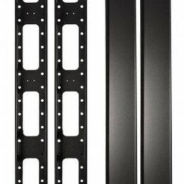 Органайзеры и кофры - Органайзер кабельный вертикальный 47U SIT-VORG-47 с крышкой (металл) для шкаф..., 0