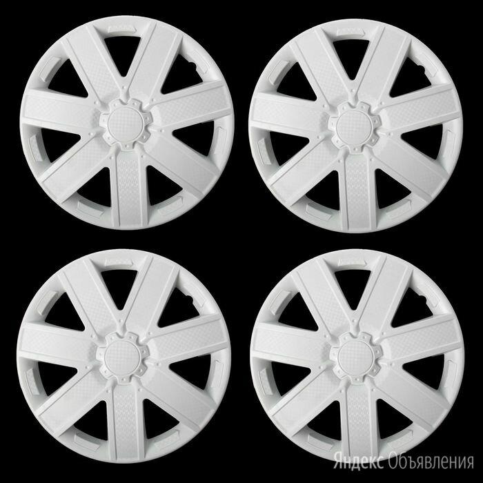 Колпаки колесные R15 'ГАЛАКСИ', белый глянец карбон, набор 4 шт. по цене 1954₽ - Спецтехника и навесное оборудование, фото 0