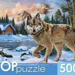 Пазлы - TOPpuzzle. ПАЗЛЫ 500 элементов. ХТП500-6814 Зимний волк, 0