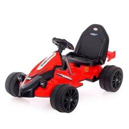 Электромобили - Детский электромобиль «Картинг», цвет красный, 0
