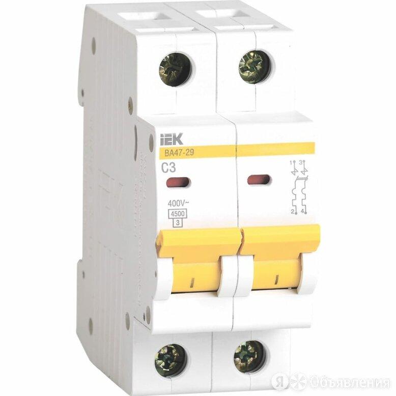 Автомат IEK ВА47-29 2п, C, 3А, 4.5кА по цене 389₽ - Защитная автоматика, фото 0