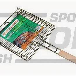 Решетки - Решётка-гриль Green Glade двойная нерж сталь дер ручка  разм 28х28 см, 0