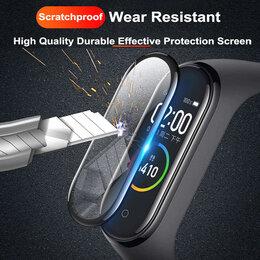 Аксессуары для умных часов и браслетов - Защитное стекло (пластик) 9D для Xiaomi Mi band 6 полное покрытие, 0